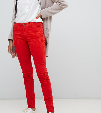 Esprit skinny cord trousers in red-Orange