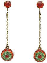 One Kings Lane Vintage 1960s Orange & Green Pendulum Earrings