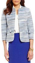 Kasper Petite Multi-Colored Tweed Jacket