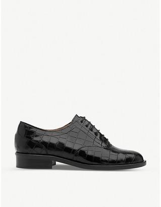 LK Bennett Jamie mock-croc patent leather oxford shoes