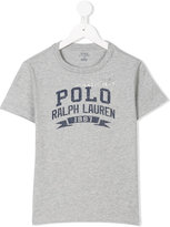 Ralph Lauren logo front t-shirt - kids - Cotton - 5 yrs