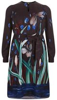 Marina Rinaldi Long Sleeve A-Line Printed Tunic Dress