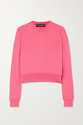 Dolce & Gabbana - Silk Sweater - Pink