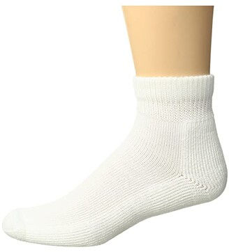 Thorlos Advanced Diabetic Low Cut Single Pair (White) Men's Crew Cut Socks Shoes