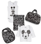 Eleven Paris Infant Boy's Little Elevenparis Disney Mickey Mouse Bodysuit, Shirt, Leggings, Bib & Bag Set