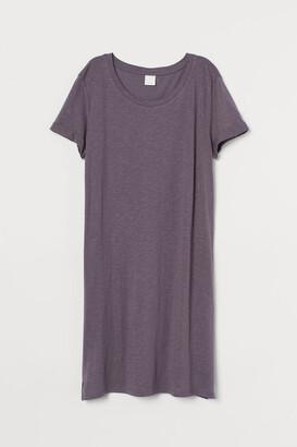 H&M Jersey T-shirt Dress - Purple