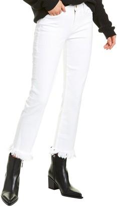 Frame Le High White Straight Leg Jean
