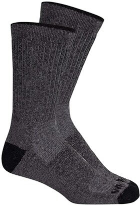 Wigwam Wool Excursion Midweight 2-Pack (Charcoal) Crew Cut Socks Shoes