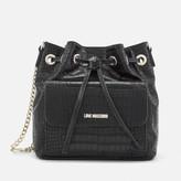 Love Moschino Women's Croc Bucket Bag - Black