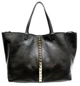 "Valentino CWB00318"" Black Leather Studded Tote"