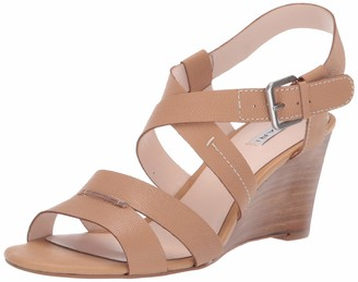 Tahari Womens Violette Wedge Sandal Biscuit Leather 10 M
