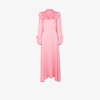 The Vampire's Wife Firefly ruffled silk maxi dress