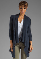 Autumn Cashmere New Rib Drape Cardigan