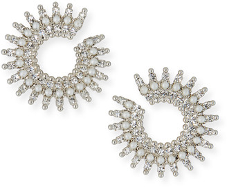 Auden Holloway Pearly Crystal-Spike Earrings