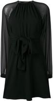 Saint Laurent sheer sleeve dress