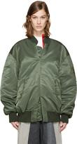 Facetasm Green Pullover MA-1 Bomber Jacket