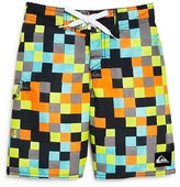 Quiksilver Boys' Logo Check Boardshorts - Sizes 4-7