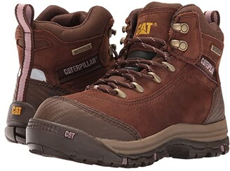 Caterpillar Ally 6 Waterproof Composite Toe (Brown) Women's Work Lace-up Boots