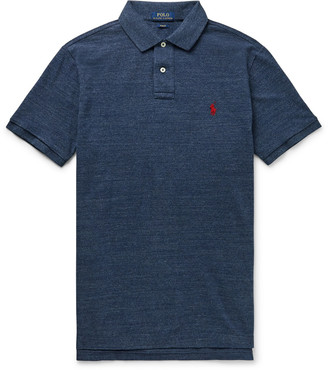 Polo Ralph Lauren Slim-Fit Melange Cotton-Pique Polo Shirt