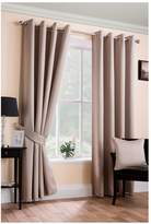 Very Plain Dye Blackout Unlined Eyelet Curtains