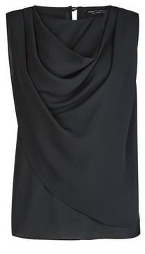 Dorothy Perkins Womens Black Sleeveless Cowl Neck Top, Black