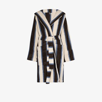 Tekla Striped Organic Terry Cotton Robe