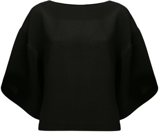 GOEN.J Boat Neck Wide-Sleeved Top