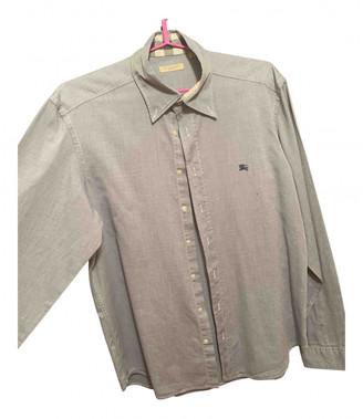 Burberry Grey Cotton Shirts