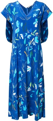 Agnona short-sleeve floral dress