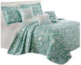 Serenta Birdsong 6-Piece Bed Spread Set, Teal/Turquoise, King