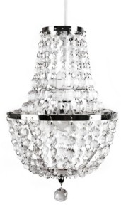 Sleeping Partners Tadpoles Chandelier Faux-Crystal and Chrome Pendant