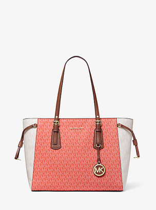 MICHAEL Michael Kors MK Voyager Medium Color-Block Logo Tote Bag - Pnkgrpft Mlt - Michael Kors