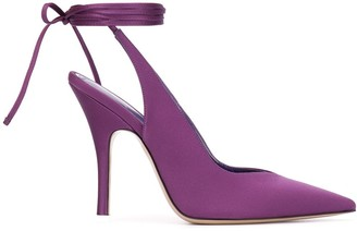ATTICO Tied Pointed Toe Pumps