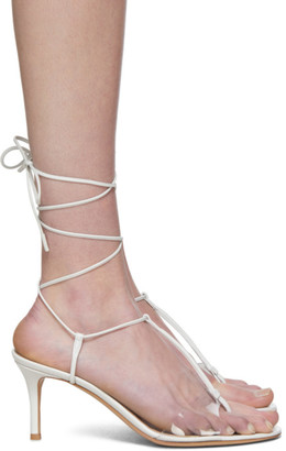 Gianvito Rossi White Gwyneth Heeled Sandals