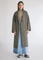 Nanushka Women's Alamo Wrap Check Coat in Houndstooth, Size Extra Small | Wool