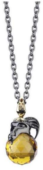 Stephen Webster Stainless Steel/Yellow Gold Plated with Crystal & Diamond Necklace