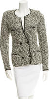 Isabel Marant Leather-Trimmed Double-Breasted Jacket