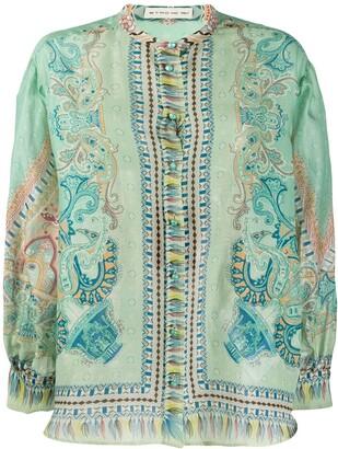 Etro Paisley-Print Chiffon Shirt