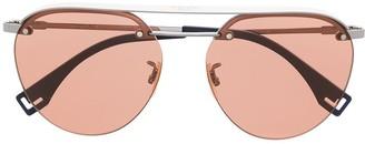 Fendi Round-Frame Aviator Sunglasses