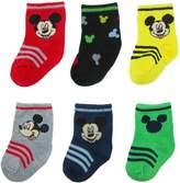 Disney Baby Boy Mickey Mouse Socks (6 Pair Pack)