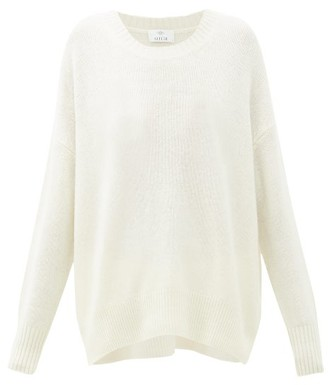 Allude Oversized Round-neck Cashmere Sweater - Womens - Cream