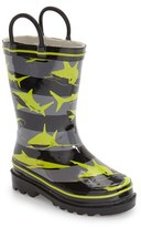 Western Chief Boy's 'Shark Stripes' Rain Boot
