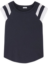 Splendid Varsity Active Striped Cotton And Modal-blend Jersey T-shirt - Navy