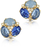Forzieri Blue Crystal Clip-on Earrings