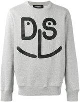 Diesel face printed sweatshirt - men - Cotton - XXL