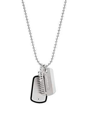 Fossil Men Stainless Steel Pendant Necklace JF02997040