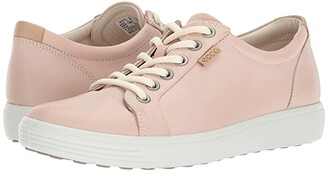 Ecco Soft 7 Sneaker (White/White) Women's Lace up casual Shoes
