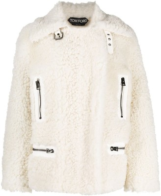 Tom Ford Zip-Up Shearling Jacket