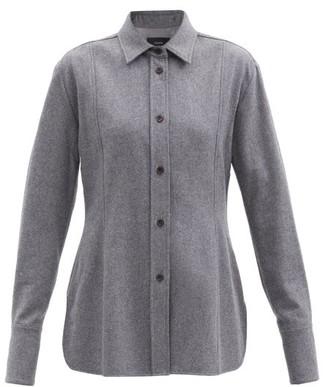 Joseph Baron Wool-blend Felt Shirt - Grey