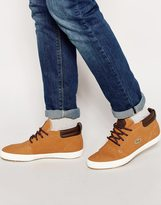 Lacoste Ampthill Shearling Look Chukka Trainers - Brown